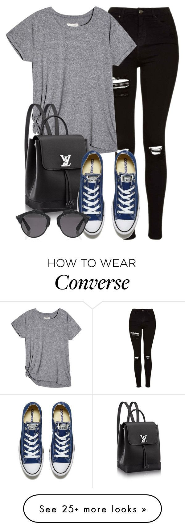 """""""Style #10410"""" by vany-alvarado on Polyvore featuring Topshop, Converse and Christian Dior"""