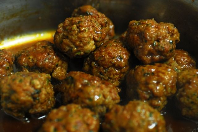 Sticky tamari pork meat balls