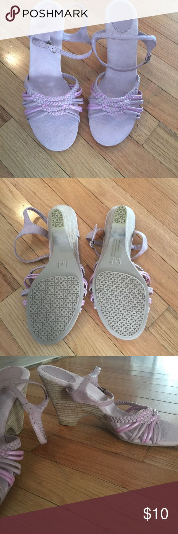 Gap shoes New w/no tags super cute with jeans and a cute top! Says size 9 but can fit a size 8 since that is the size I take. Light pink. GAP Shoes Sandals