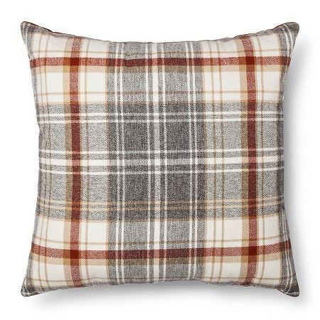Throw Pillow Plaid Oversized - Threshold™ : Target