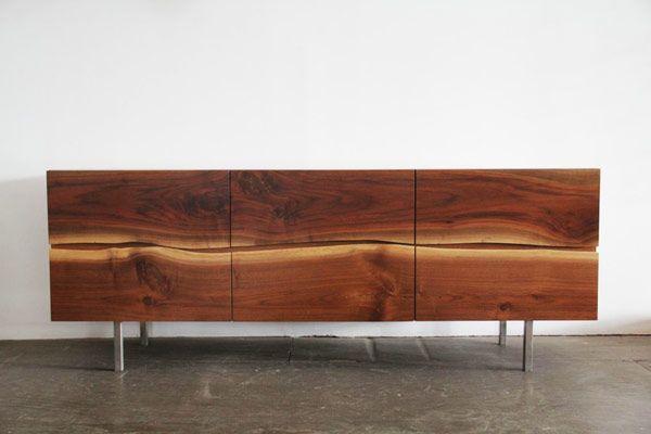 Beautiful live edge, as edge pull. Wood Design Blog