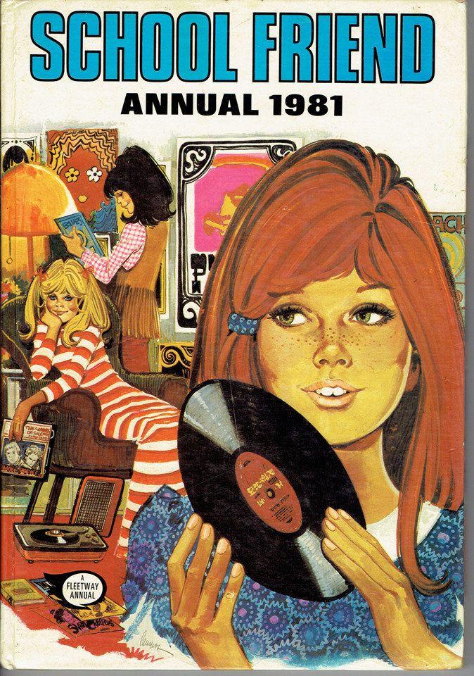 VINTAGE TREASURE - School Friend Annuals