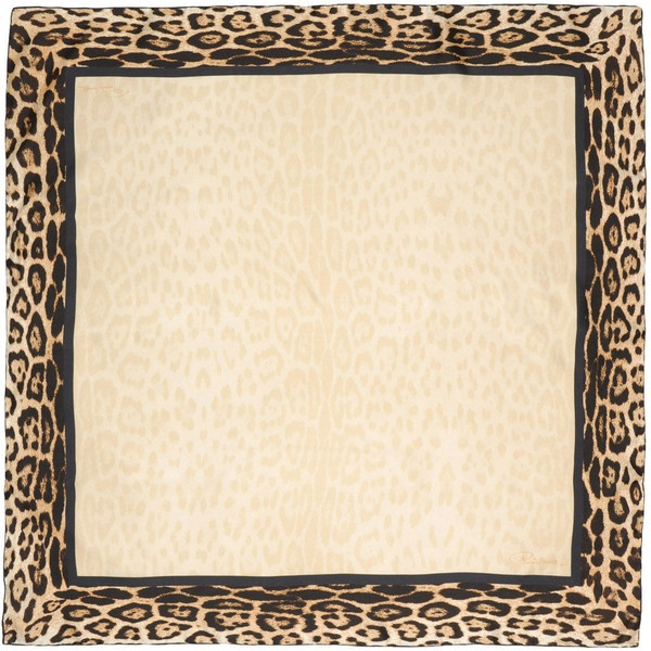 ROBERTO CAVALLI Square scarves - Item 46263436 found on Polyvore