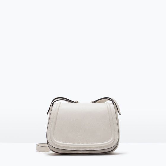 Image 1 of LEATHER MESSENGER BAG from Zara