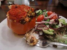 Νόστιμο! - That's Delicious in Greek! Lamb, Rice & Feta Stuffed Peppers