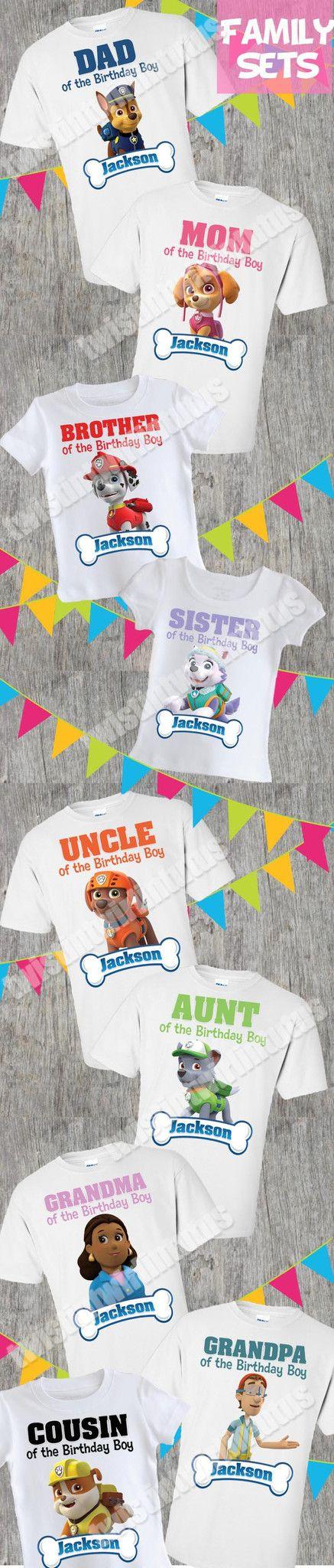 Paw Patrol Family Shirts | Paw Patrol Birthday Shirt | Paw Patrol Birthday Party Ideas | Paw Patrol Birthday | Birthday Party Ideas for Girls | Birthday Party Ideas for Boys | Twistin Twirlin Tutus #pawpatrolbirthday