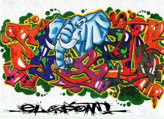 Graffiti font El amp font Block