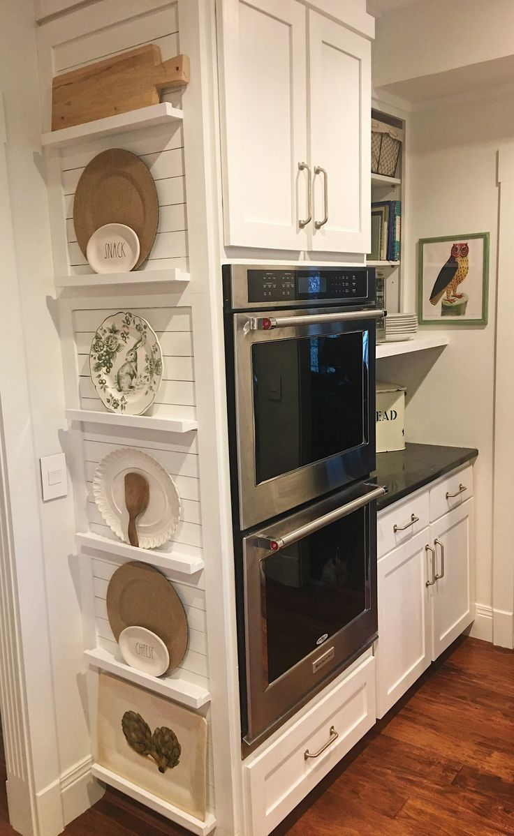 No Room For A Plate Rack Add These Ledges To The Side Of Your Cabinetry Beautiful Kitchen Cabinets Kitchen Renovation Kitchen Design