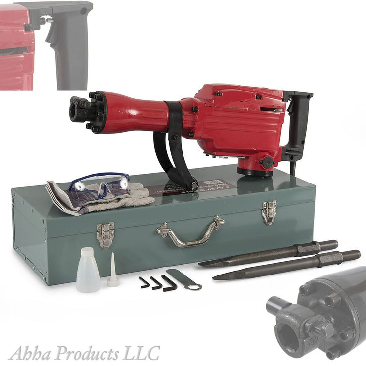 Heavy Duty Industrial Commercial Demolition Electric Jack Hammer w Multiple Bits #Unbranded