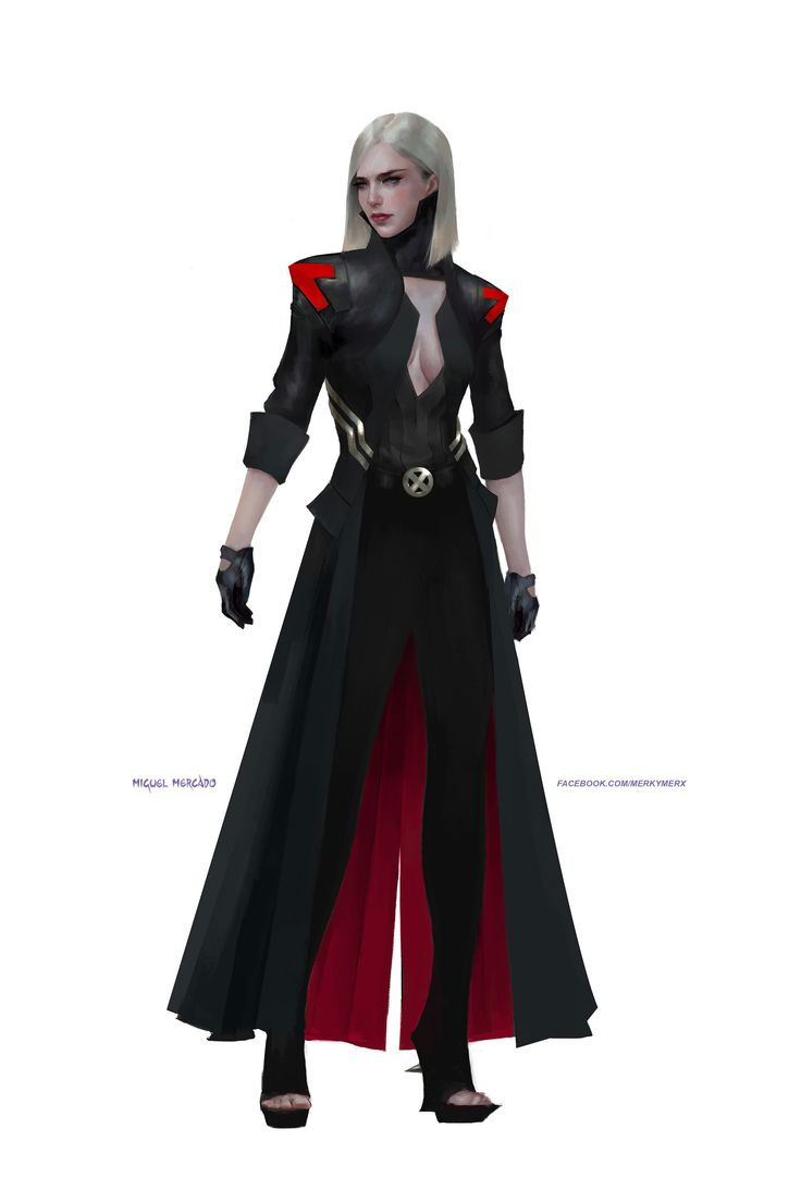 Re-imagined Emma's black outfit from Marvel NOW. I love how black looks on her!