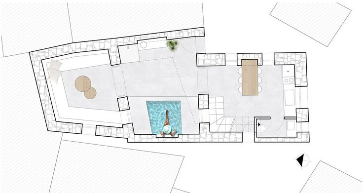 Unfolding Courtyard House from G+A Evripiotis (Architecture Studio)
