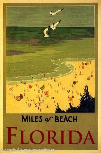 OLD FLORIDA...vintage poster