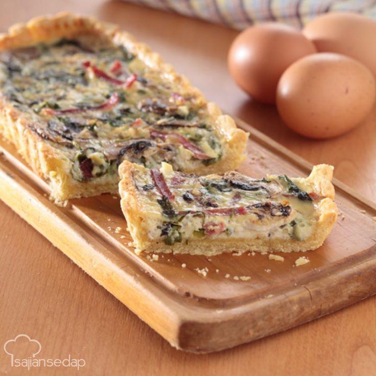 Mari ikuti cara membuat pai jamur bayam nan lezat dan menggoda. Pai ini cocok Anda jadikan sarapan. Sensasi rasa smoked beefnya bikin ketagihan.