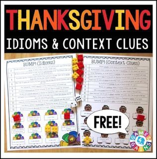 """FREE LANGUAGE ARTS LESSON - """"Thanksgiving Activities FREE: Thanksgiving ELA Games"""" - Go to The Best of Teacher Entrepreneurs for this and hundreds of free lessons. 3rd - 6th Grade   #FreeLesson  #LanguageArts   #Thanksgiving   http://www.thebestofteacherentrepreneurs.net/2016/10/free-language-arts-lesson-thanksgiving_11.html"""