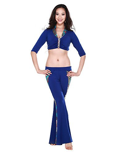 Dancewear Crystal Cotton and Viscose Belly Dance Outfits For Ladies More Colors