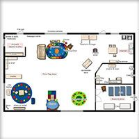 classroom floor planner - Toddler Room Floor Plan