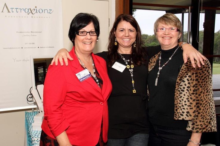Julie Laherty, Me, Lisa Johnston. Proudly wearing Attraxionz magnetic jewellery at Women's Network Australia North Lakes May 2013.