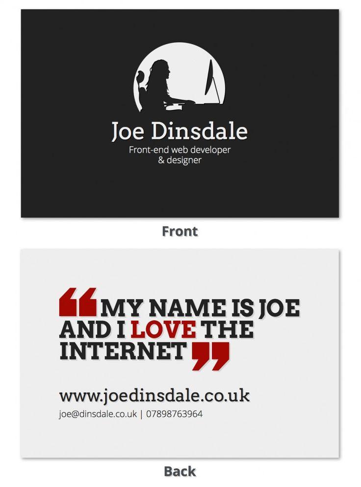 Business card Design for Joe Dinsdale
