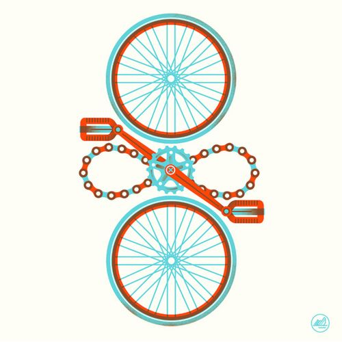 From here to InfinityTattoo Ideas, Cycling Cycling, Logo Inspiration, A Tattoo, Bikes Riding, Bicycles Art, Bikes Art, Design, Bikes Style