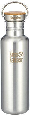 Klean Kanteen water bottle - a high quality metal and bamboo bottle which will last years! You'll save so much money by not buying plastic water bottles - and help the environment too! (affiliate)