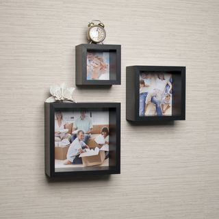 Shop for Photo Frame Wall Cube Shelf Set (Set of 3). Free Shipping on orders…
