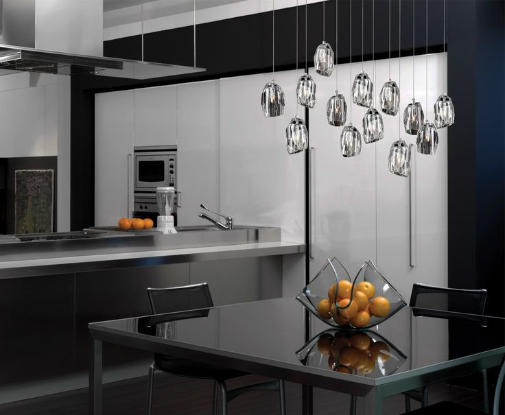 A 13-light oval chandelier from the Diffi collection