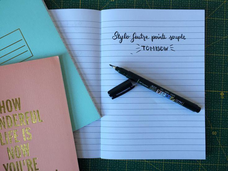 lettering stylo feutre tombow