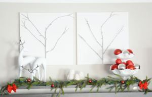 Winter twig branch wall decor tutorial!  Learn how to bring natural elements indoor (or used faux!)  Simple yet Elegant!