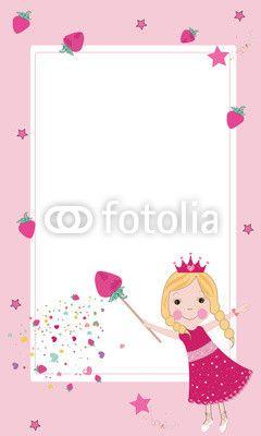 Peri Kızı Vektör Tasarımlarım * Cute strawberry fairy frame vector