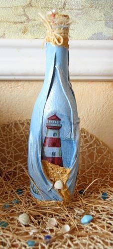 Бутылка «Старый маяк» http://dcpg.ru/mclasses/mayak/ Click on photo to see more! Нажмите на фото чтобы увидеть больше! decoupage art craft handmade home decor DIY do it yourself tutorial bottle acrylic paints napkin varnish