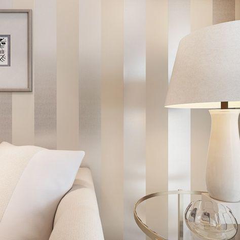 O novo n?o tecidos reunindo papel de parede listrado quarto sofá da sala backgroumd simples para parede papel R109 em Papéis de parede de Me...