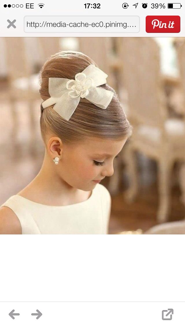 Sophisticated young girl hair Up-Do