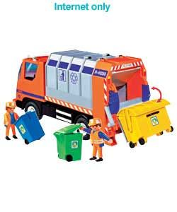 PLAYMOBIL Recycling Truck  Toy Truck Playmobil  http://www.comparestoreprices.co.uk/cars-and-other-vehicles/playmobil-recycling-truck.asp #playmobil #constructiontoys