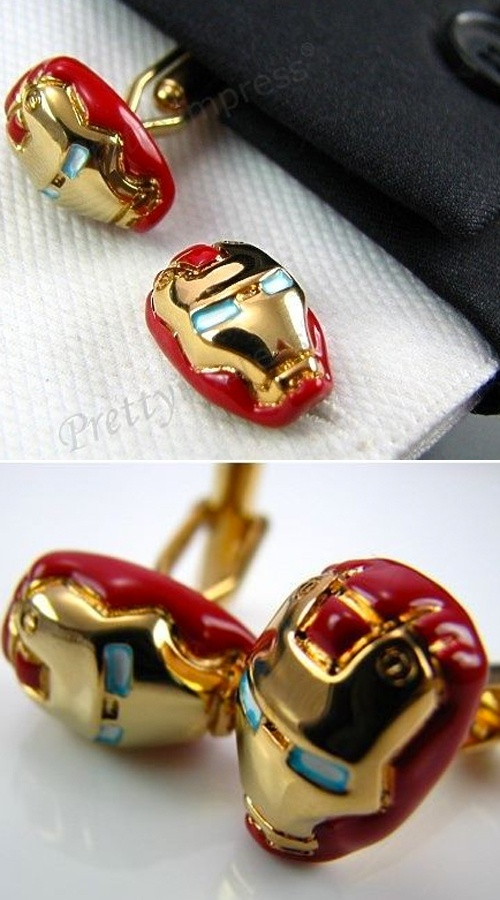iron man cufflinks. can my husband wear these on our wedding day please?!