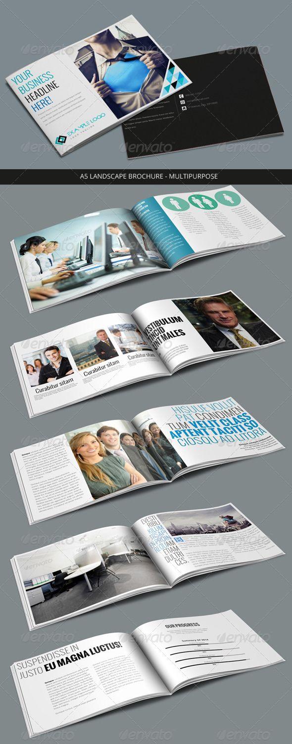 multi page brochure template - a5 landscape brochure multi page brochures magazine