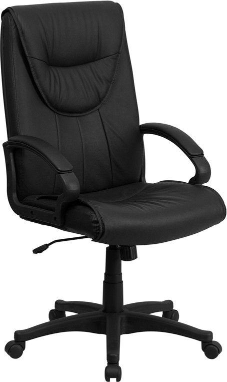 flash furniture half oval back black leather swivel office chair - Drehsthle Fr Wohnzimmer Zeitgenssisch