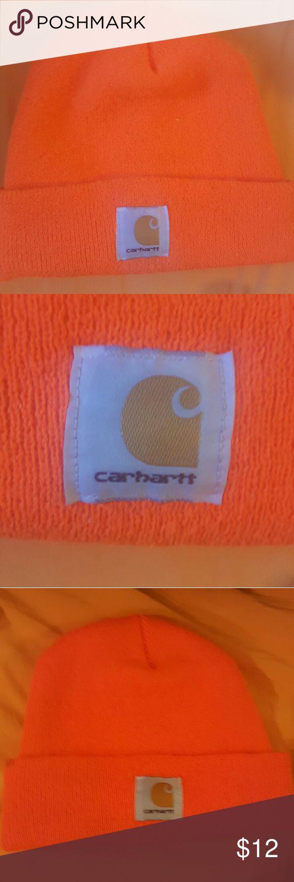 Bright Orange CARHARTT hunting hat like new!!! Bright Orange CARHARTT hunting hat like new!!! SUPER WARM!!! Carhartt Accessories Hats