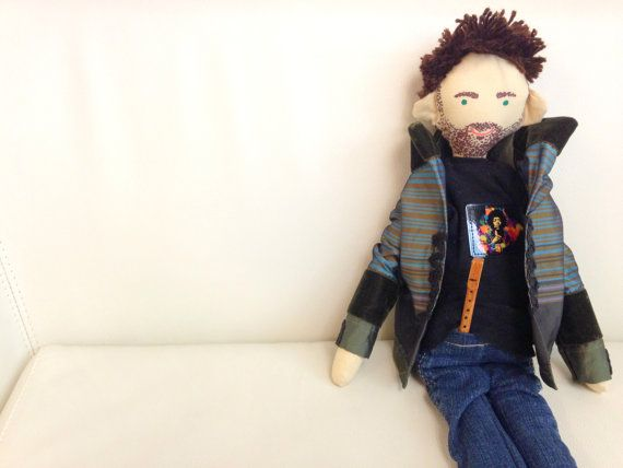 Handmade custom doll made by photo portrait cloth by apacukababa