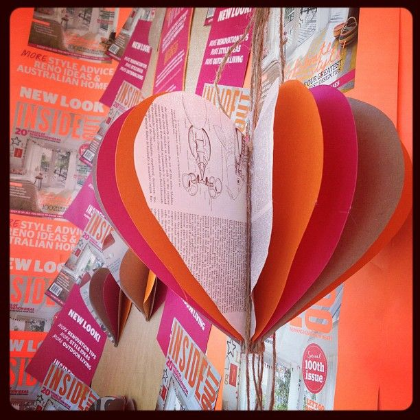You have a chance to win this paper installation by Paper Couture, created for our new 100th issue! She has created three unique installations, currently on display at these newsagents: The Lucky Charm, Queen Victoria Building, 84–88 Lower Ground, QVB, 455 George Street, Sydney NSW; The Lucky Charm, Shop 2017A Westfield Centrepoint, Pitt Street, Sydney; Mosman Newsagency  890 Military Rd, Mosman NSW. Details:  http://blogs.homelife.com.au/insideout/article/win-a-paper-couture-installation/