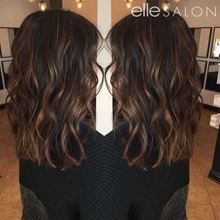 Hair goals! @jordyn1490 took off 7 inches and added a beautiful caramel balayage!