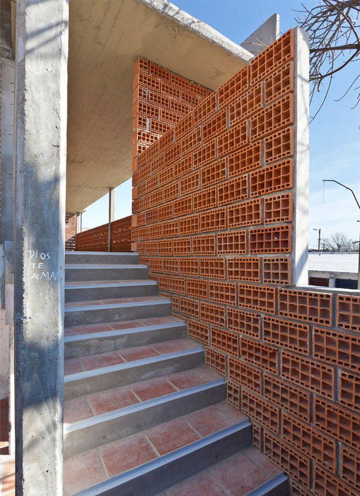 M s de 25 ideas incre bles sobre ladrillos huecos solo en for Casa moderna ladrillo