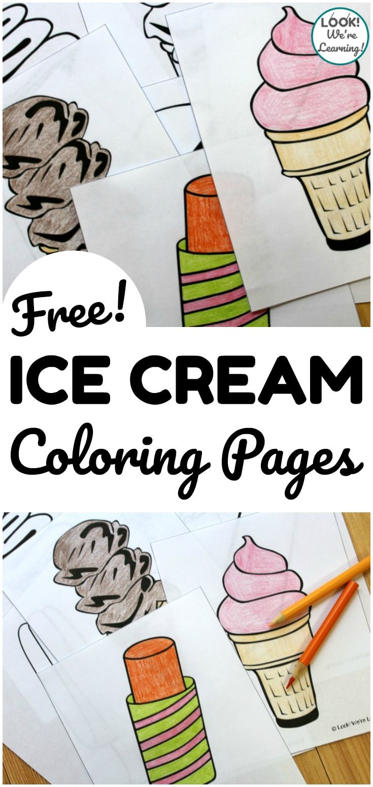 Ice Cream Colors Ice Cream Coloring Pages Look We Re Learning Ice Cream Coloring Pages Coloring Pages Coloring Pages For Kids