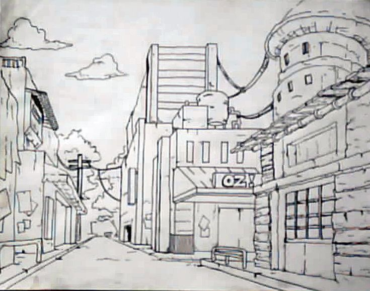 how to draw a one point perspective sharpener