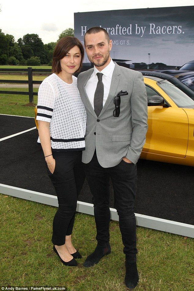 Cute couple: Emma Willis looked gorgeous in a chic black and white ensemble as she joined husband Matt at the Laureus King Power Polo Cup held at Ham Polo Club in Richmond on Thursday