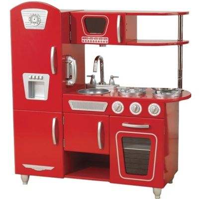 Red Play Kitchen Set beautiful red play kitchen set teamson kids classic wooden in b