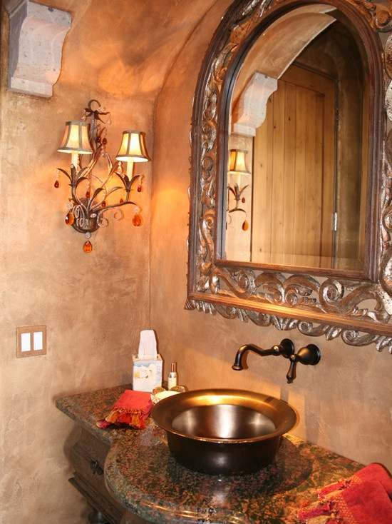Mediterranean faux stone wall design pictures remodel decor and ideas page 17 for the - Mediterranean bathroom design ...