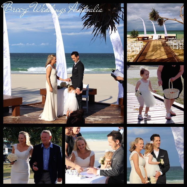 Wedding ceremony of Craig & Kathryn 18/10/2014 Currumbin Beach Styling by www.breeeweddings.com.au  #currumbin #beach #wedding #currumbinbeachwedding #goldcoastwedding #goldcoast #breezeweddingsaustralia  #balistylewedding #baliflag #baliflagswedding