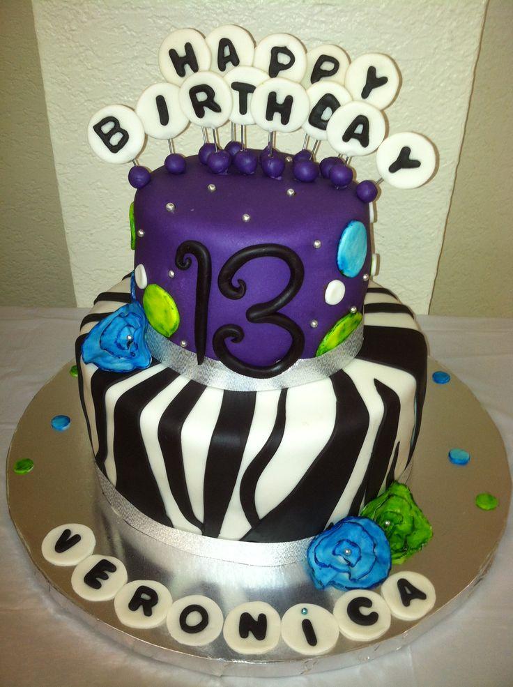 Zebras Cake Birthday 13Th Bday Ideas