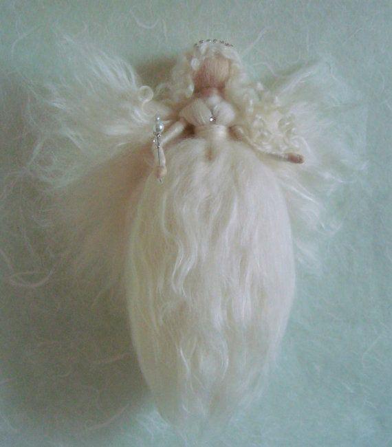 Needle felted wool faeries by FaeriesatFaeFolk on Etsy