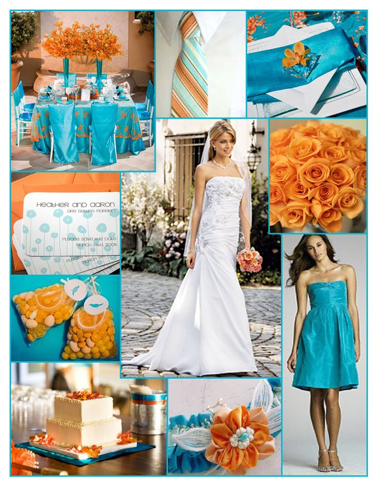 Teal And Orange Wedding Inspiration What I Was Going With The Colors